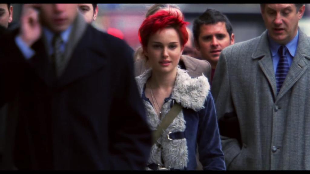 """Kadr z sekwencji otwierającej """"Closer"""", Natalie Portman, studio: Columbia Pictures"""