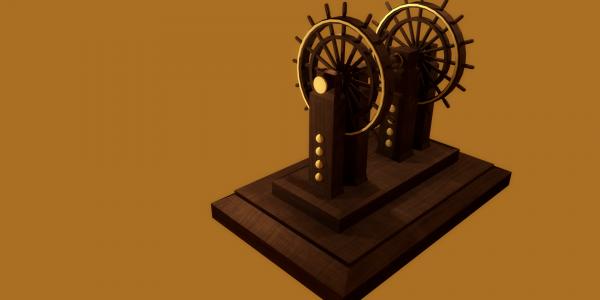 Model stery statku wykonany w całości w grafice 3D. autor: Gabriel Paździor, wszystkie prawa zastrzeżone
