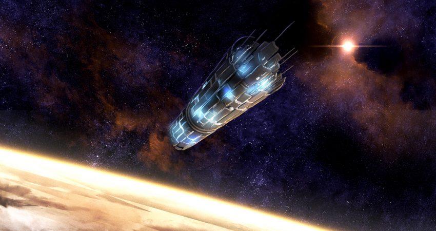 """Jedna z licznych prac fanów Herberta. Cyfrowe malowidło przedstawia """"Przybycie na Arrakis"""". To jeden z pierwszych, kluczowych momentów książki """"Dune"""". grafika: """"Przybycie na Arrakis"""" autorstwa Ghostwalker2061, licencja CC BY-NC-ND 3.0"""
