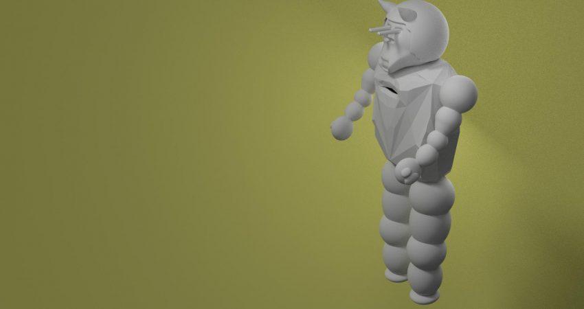 Robot, wersja pierwsza, źródło: praca własna, wszystkie prawa zastrzeżone