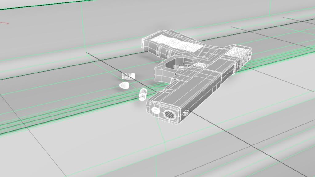 Scena 3D prezentująca całość wykonanej pracy, źródło: praca własna, wszelkie prawa zastrzeżone